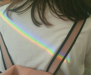 rainbow, girl, and aesthetic image
