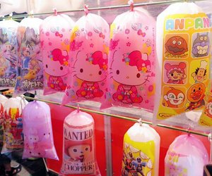 beautiful, cotton candy, and hello kitty image