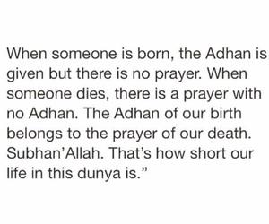 islam, adhan, and dunya image