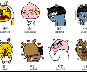 korea, words, and kakao talk image