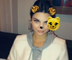 kendall jenner and snapchat image