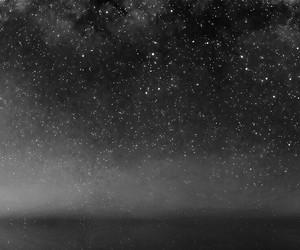 night, stars, and wallpaper image