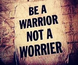 warrior and quote image