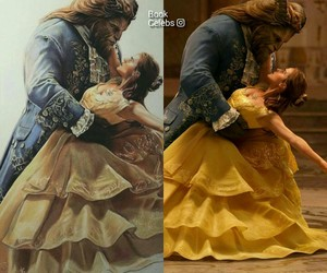 art, beauty and beast, and couple image