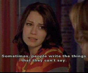 one tree hill, quote, and write image