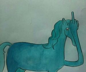 funny, fuck u, and horse image