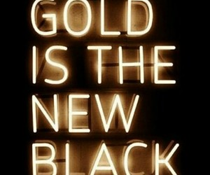 gold, black, and light image