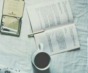 cigarette, book, and coffe image