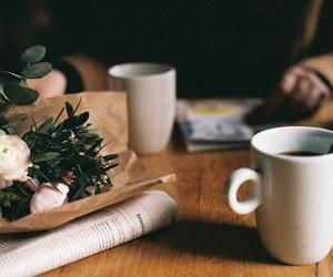 breakfast, flower, and vintage image