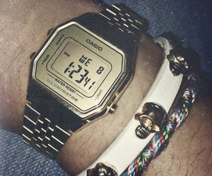casio, skull, and watch image