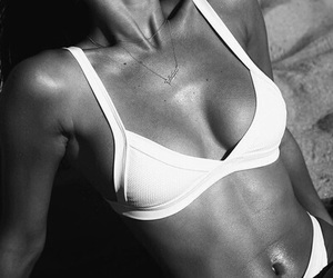 body, summer, and black and white image