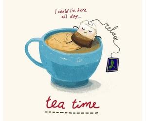 books, tea, and winter image
