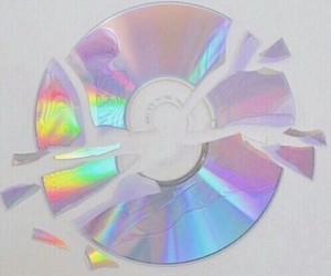 cd, rainbow, and grunge image