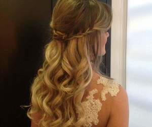 curls, prom hairstyles, and hair image