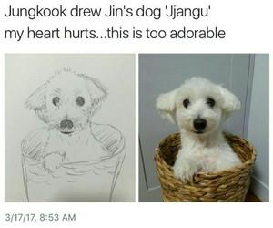 dog, bighit, and jin image