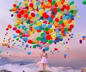 art, balloons, and photography image