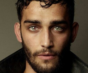 green eyes and handsome man image