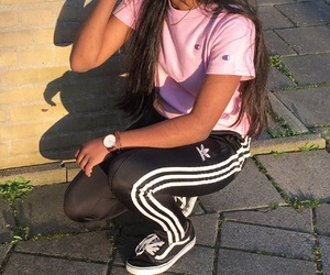 adidas, babe, and brown image
