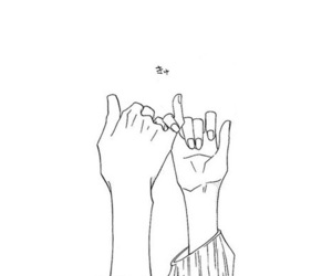 love, hands, and outline image