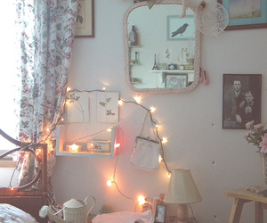 bedroom, light, and pretty image