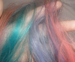 hair, pastel, and grunge image