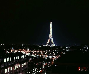 amour, eiffel tower, and midnight in paris image