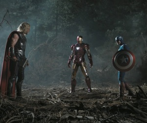 thor, iron man, and captain america image