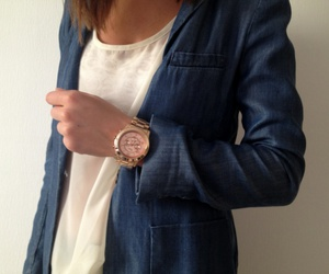 watch, white, and rose gold image