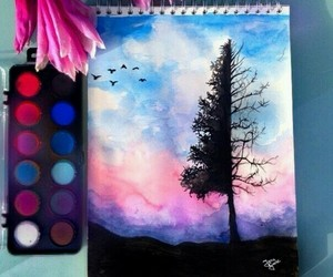 beautiful, colorful, and tree image