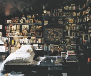bedroom, happiness, and books image