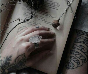 book, dark, and tattoo image