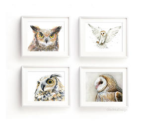 etsy, great horned owl, and owl wall art image