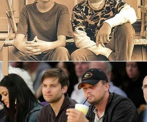 leonardo dicaprio, friends, and Tobey Maguire image