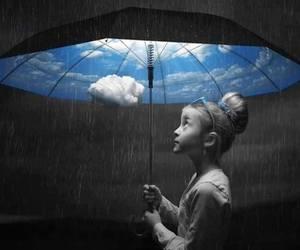 rain, umbrella, and art image