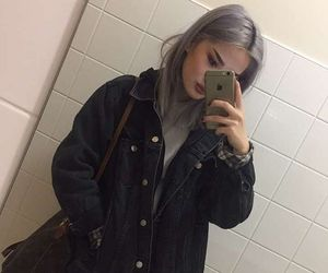 dyed hair, fashion, and grunge image