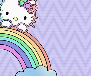 background, hello kitty, and pastel image