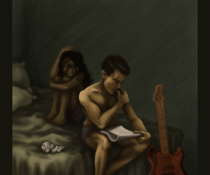 couple, music, and solitude image