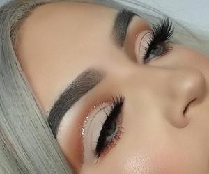 eyeshadow, mua , and glitter image