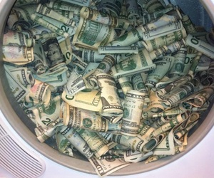money, rich, and dollar image