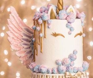 pastel, cake, and unicorns image