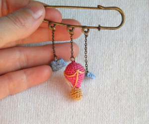 amigurumi, charms, and hot air balloon image