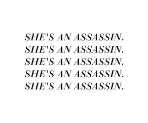 assassin, quote, and femme fatale image