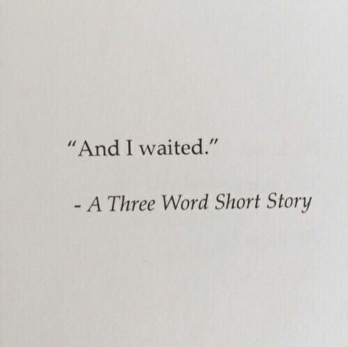 3 Word Story Shared By Jemmm88 On We Heart It