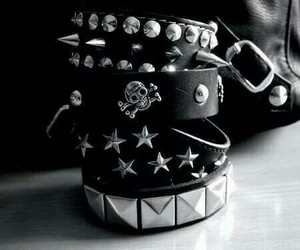 bracelet, rock, and punk image