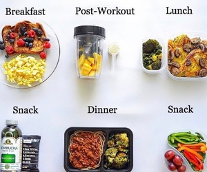breakfast, dinner, and fitness image