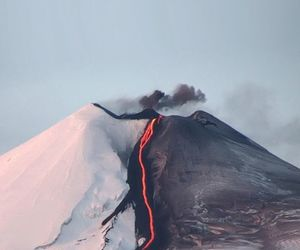 volcano, nature, and mountains image