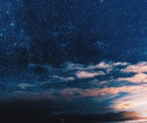 clouds, night, and sky image