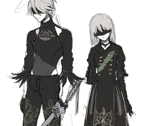 anime, video game, and 2b image