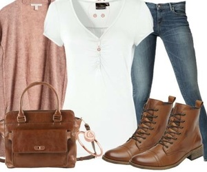 autumn, boots, and casual image
