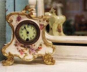 beautiful, clock, and girly image